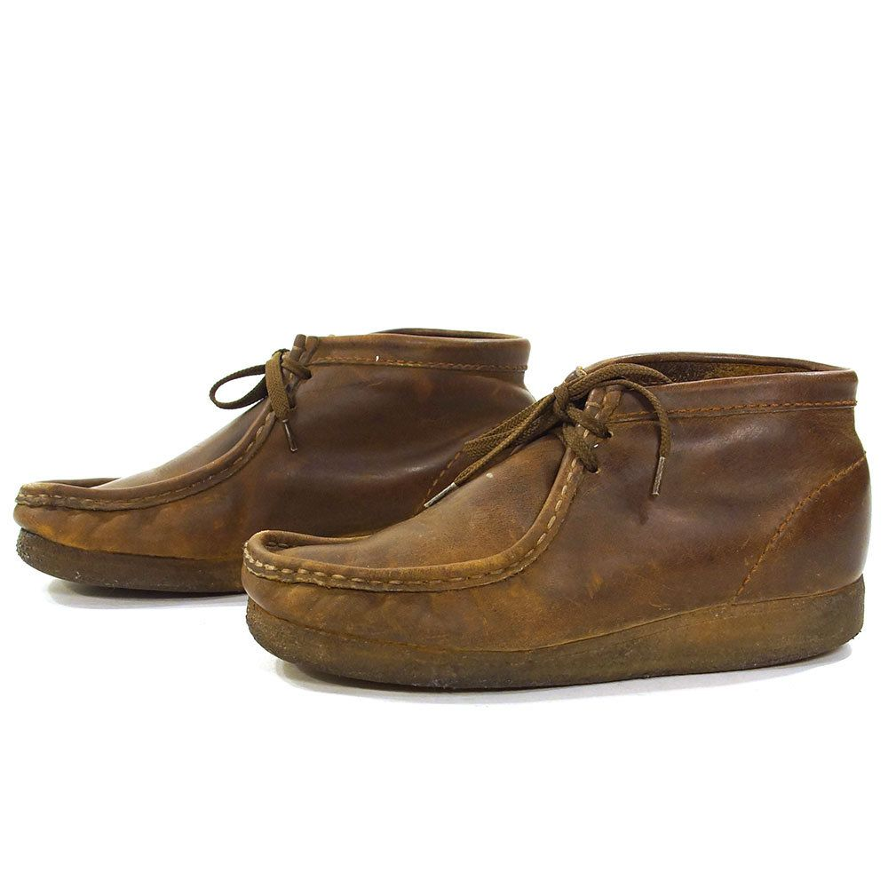5ad2e187a6af9 Vintage Clarks Originals Wallabees / Brown Leather Lace up High Top ...