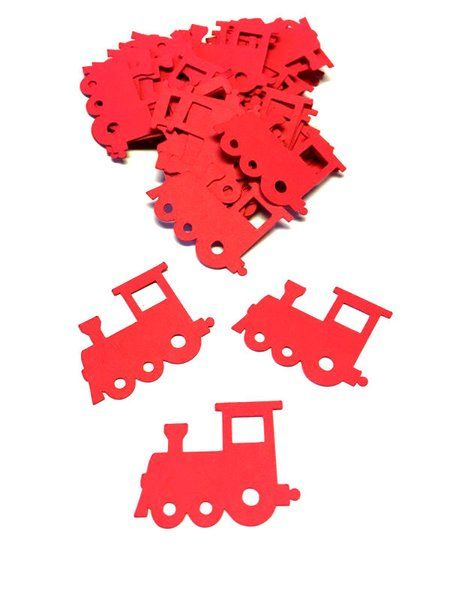 Train Confetti Perfect Addition To The Invitations And Tables For Danners Themed 2nd Birthday Red