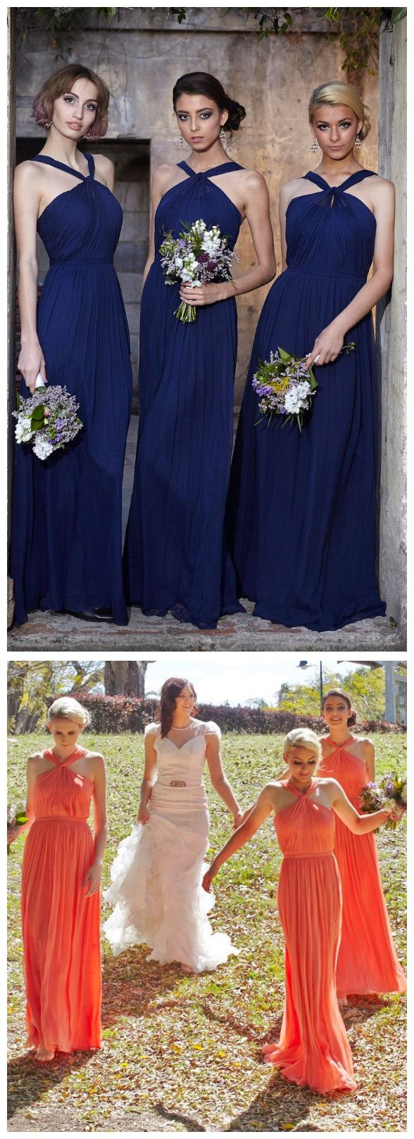 New halter royal blue chiffon bridesmaid dresses under 100 long new halter royal blue chiffon bridesmaid dresses under 100 long chiffon full length bridesmaids maid of ombrellifo Image collections