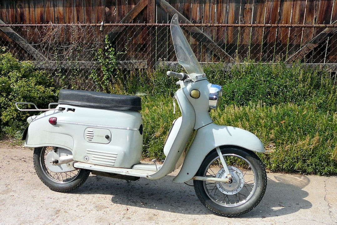 1958 Jawa Manet Scooter with 100cc Two-Stroke engine  Image by