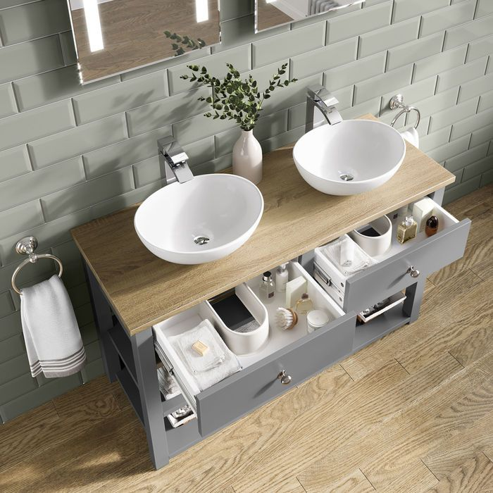 Sutton Countertop Vanity Unit And Double Camila Basin Vanity Units Luxury Bathroom Sinks Bathroom Interior Design