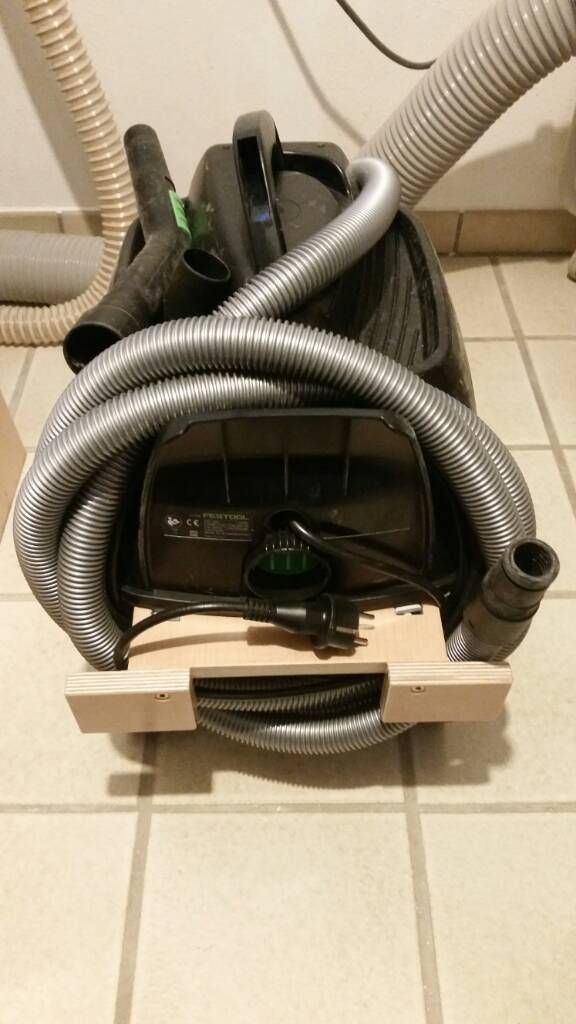 DIY cable and hose mount for Festool CT 17 dust collector