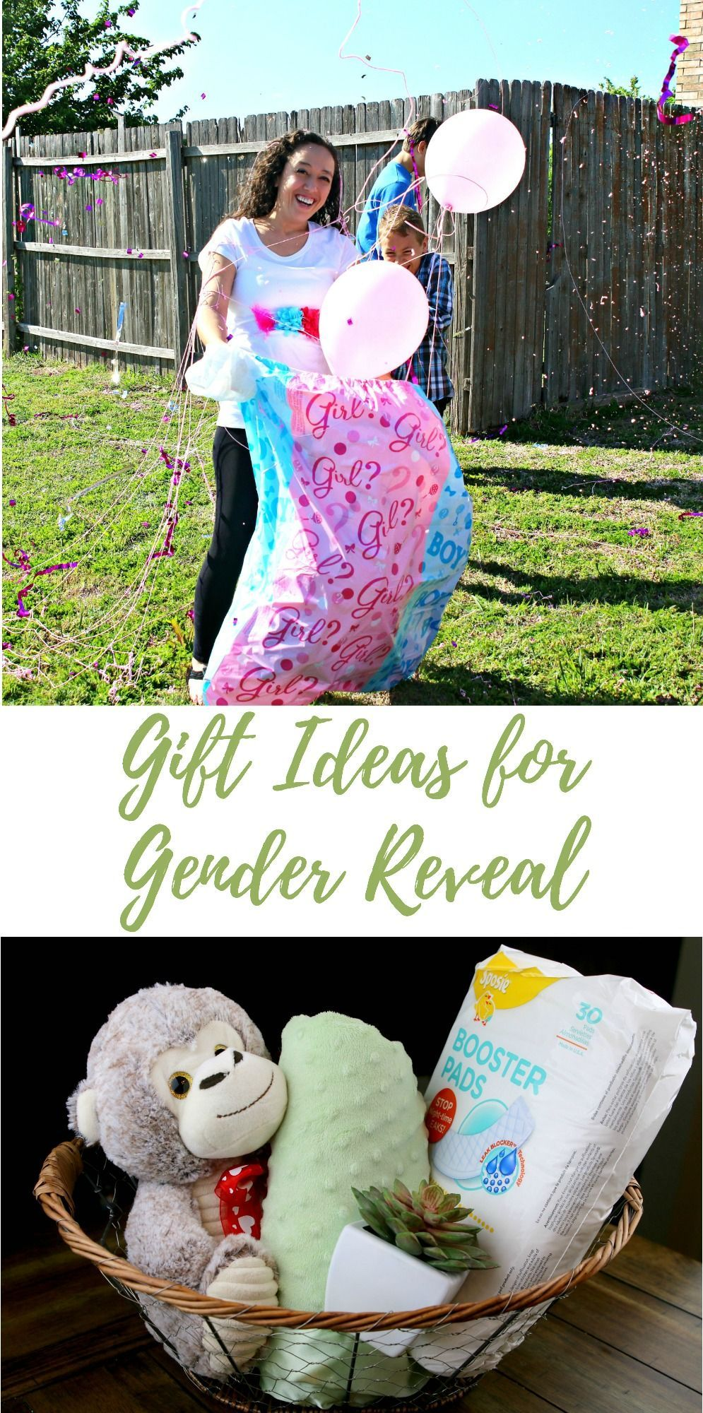Gender reveal party new baby gift basket life family