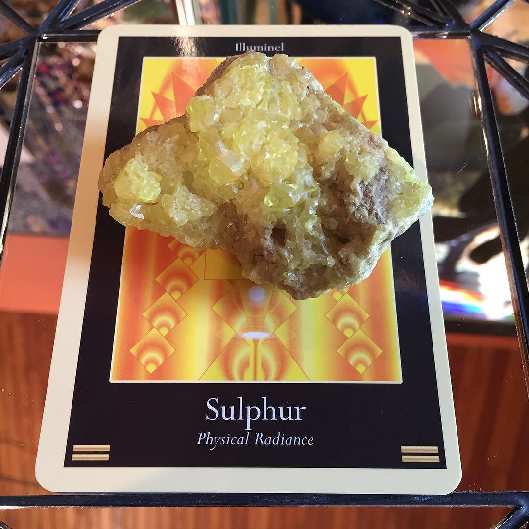 """Fire is one of the greatest catalysts on earth. The hand that wields it is always responsible for that which it destroys or creates."" This seems an extra-appropriate sentiment for today... sending our love to all those affected by wildfires in BC and beyond. #sulfur ##crystals #cardoftheday #crystaloftheday #fire #wildfire #create #destroy #cycle #summer #gratitude #prayer #love #minerals #gallery #tandmgems #explorebc #nature #outdoors #tree #forest"