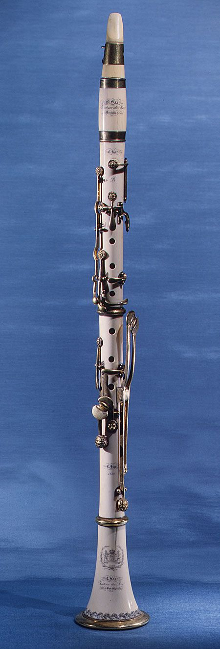 ivory clarinet by Charles Joseph Sax, Adolphe's father.
