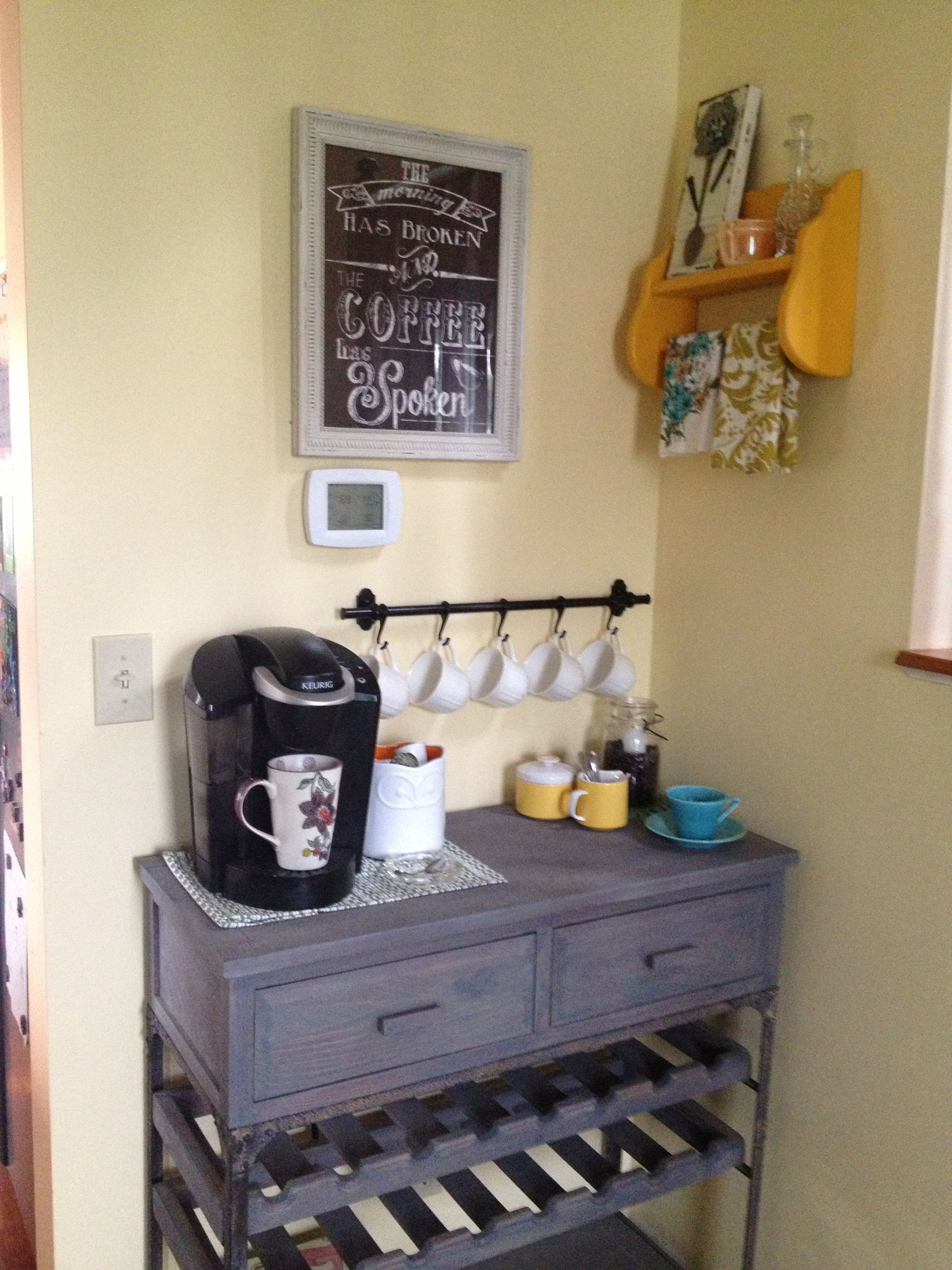 My New Coffee Bar Open For Business Coffee Bar Home Coffee