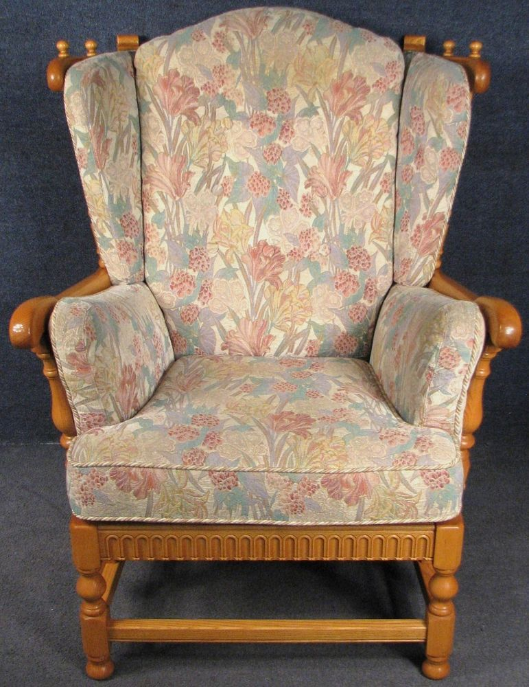 Ercol Cloister 932 Solid Ash High Back Armchair Easy Chair Special