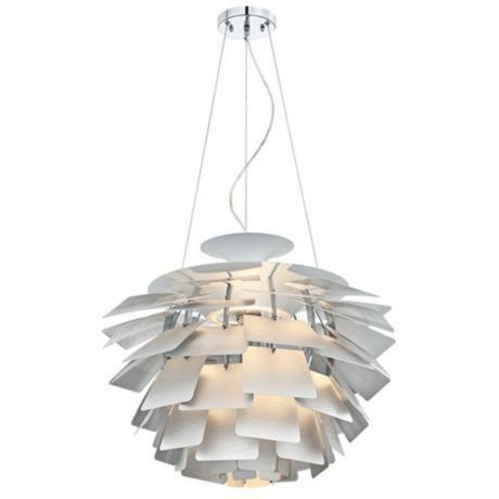 Metal Petals 25 Wide Chrome Pendant Light R1653 Lamps Plus Chrome Pendant Lighting Pendant Light Light