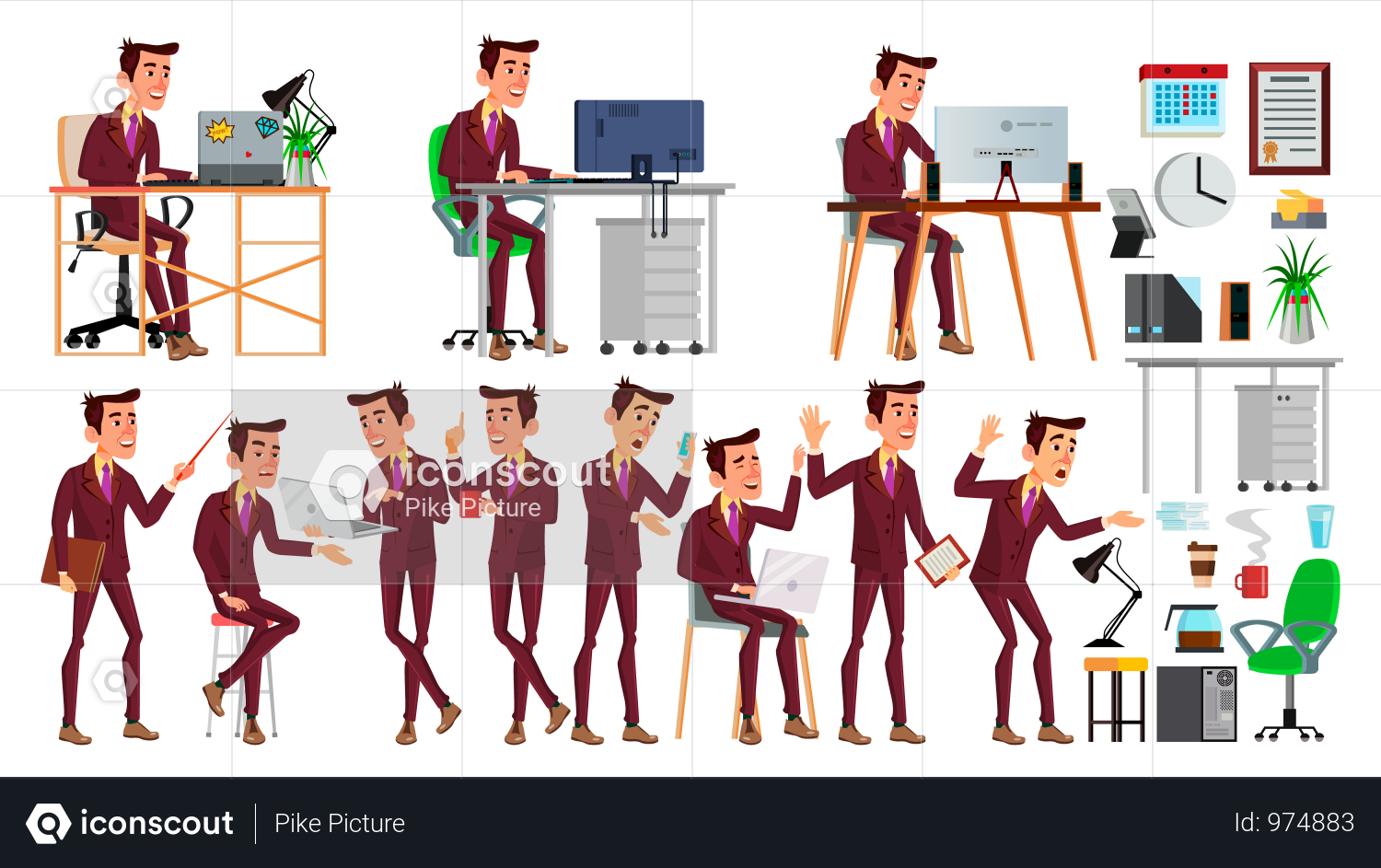 Premium Office Worker Illustration Download In Png Vector Format Business Illustration Business Person Iconic Photos