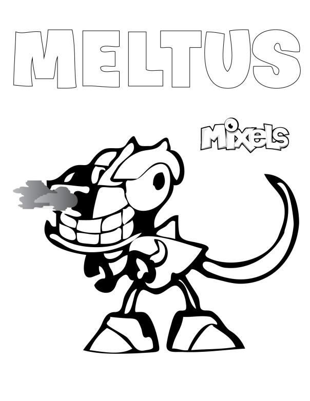 mixel-coloring-page-meltus | Mixels party | Pinterest | Lego