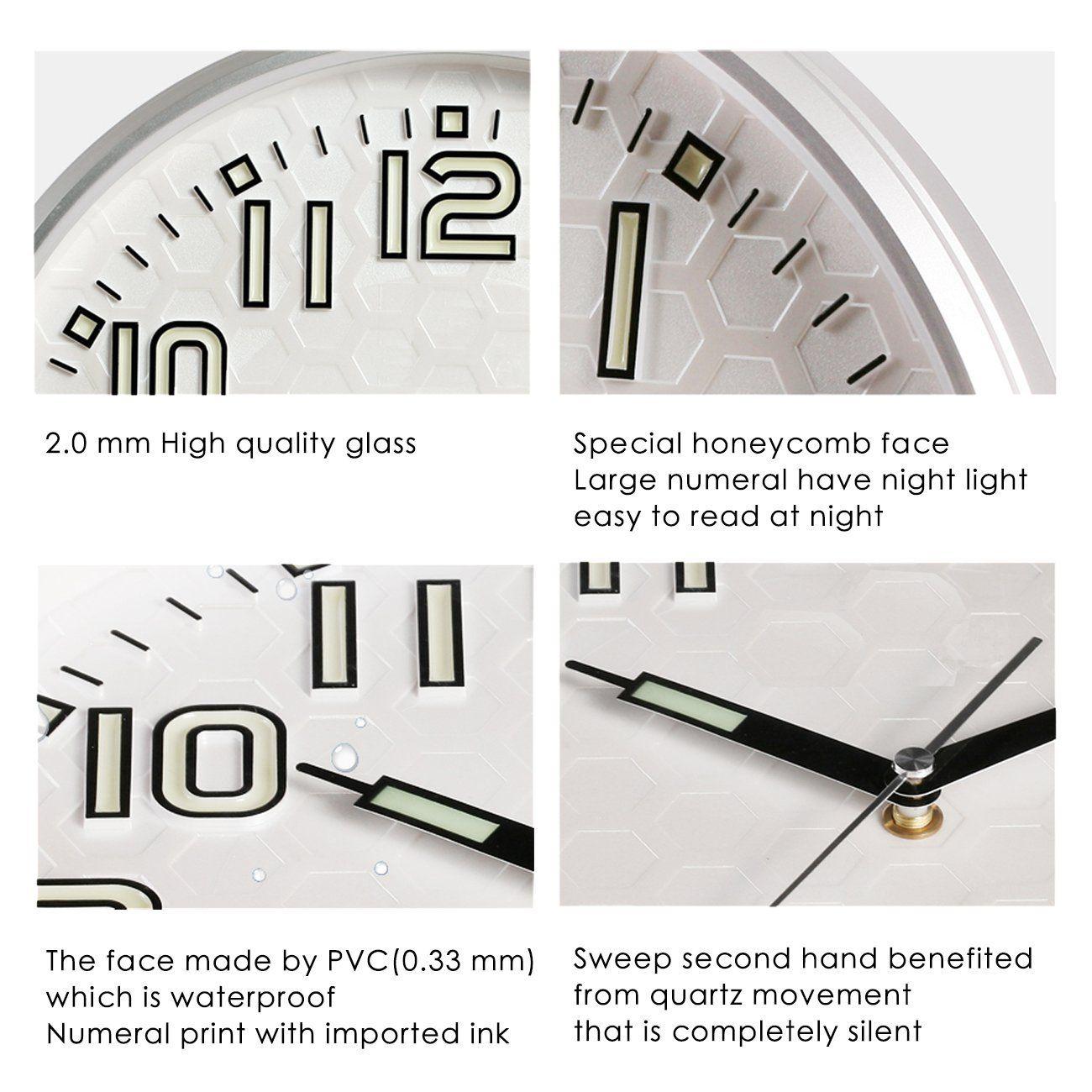 Robot Check Wall Clock Light Night Light Wall Clock