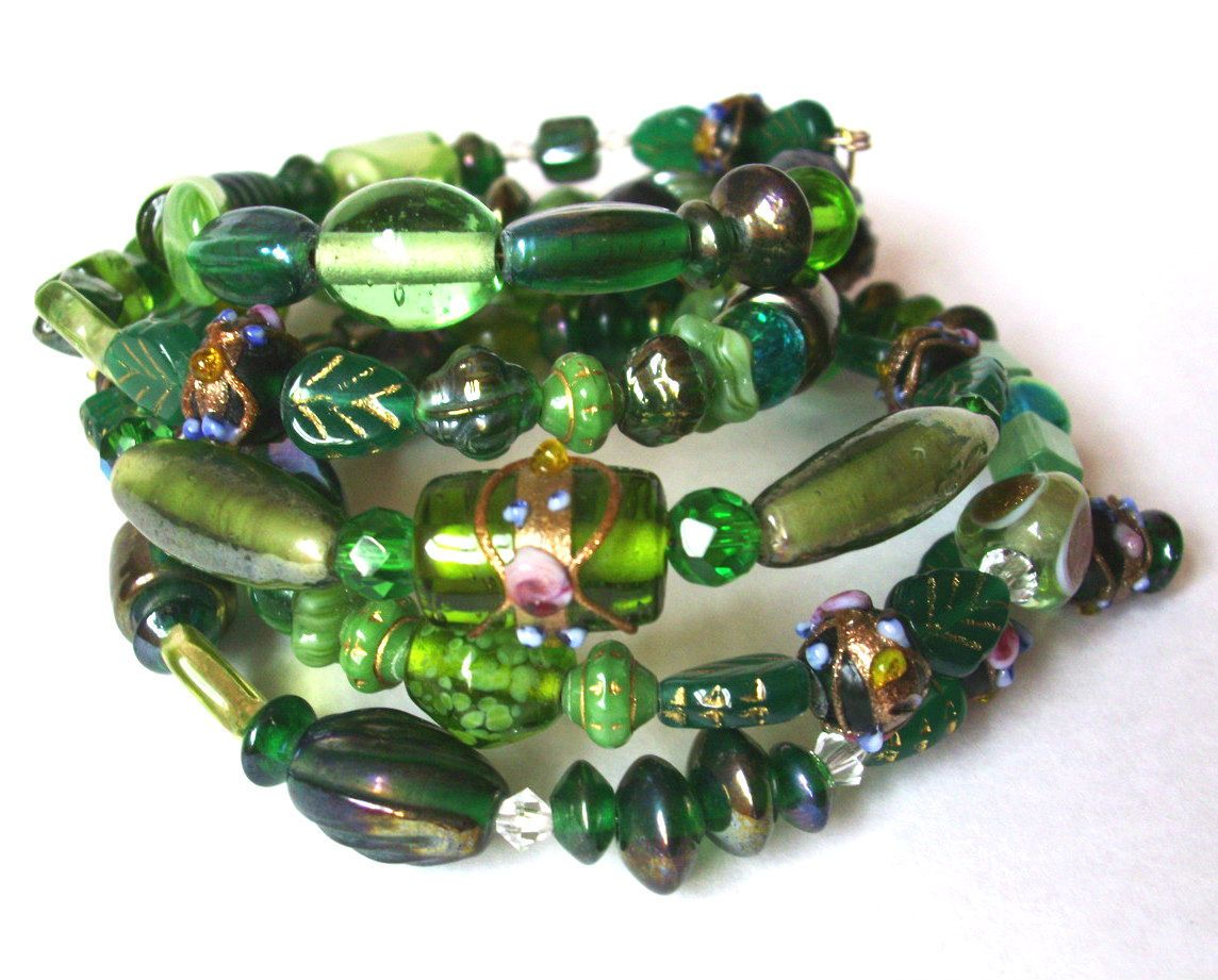 Emerald Beads Pantone Color of the Year 2013