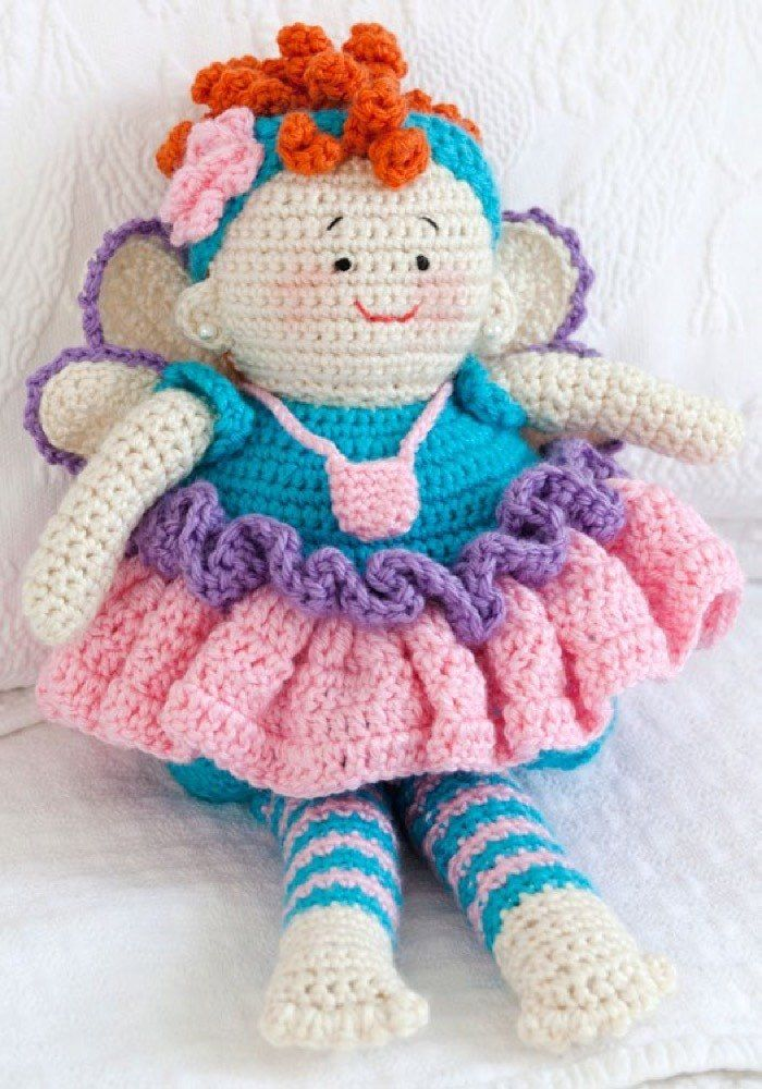 Tooth Fairy Doll in Red Heart Soft Solids - LW2562. Discover more ...