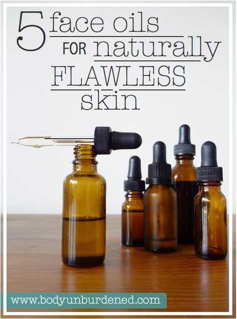 5 Face Oils for Naturally Clear, Flawless Skin #diybeauty