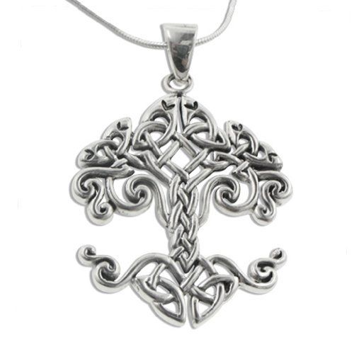 Large celtic knot tree of life sterling silver pendant 18 chain large celtic knot tree of life sterling silver pendant 18 chain necklace http aloadofball Image collections