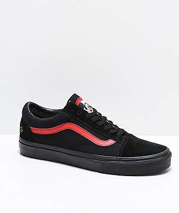 19328cebf462fb Disney by Vans Old Skool Mickey Mouse Club Black Skate Shoes in 2019 ...