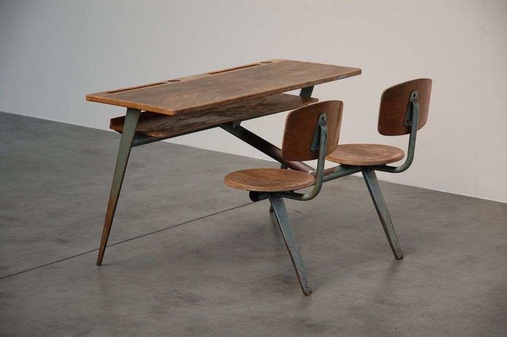 Jean Prouve Compass School Desk For Ateliers Jean Prouve Image 5