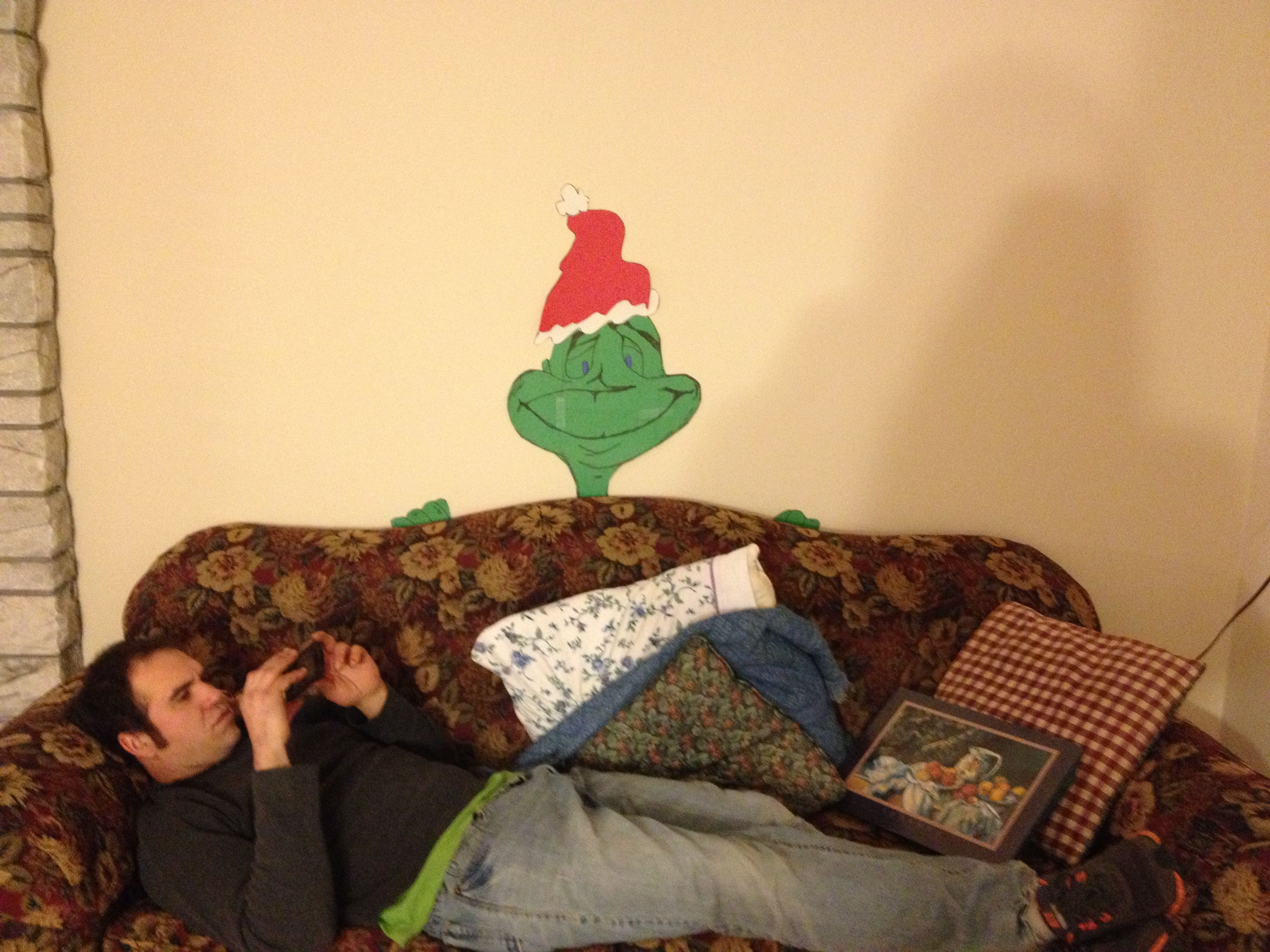 Christmas grinch from construction paper | Christmas crafts for kids, Kids christmas, Grinch ...