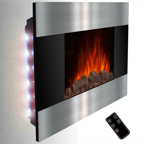 Golden Vantage 36 Inch Wall Mount Indoor Heater Electric Fireplace Inches Wide X 6 Deep 22 High 244 79