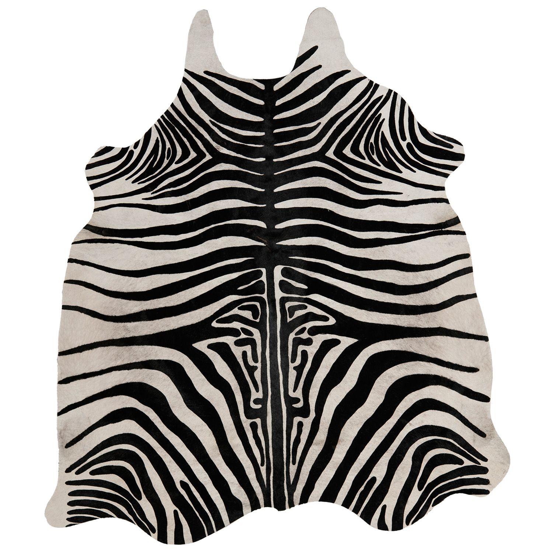 Safavieh Handpicked Hacienda Argentinian Zebra Print: Cow Hide White And Black Zebra Rug @Zinc_door #zincdoor