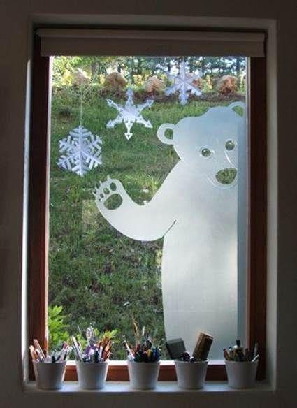 decorar ventanas en navidad 5 - Decoración de Interiores y