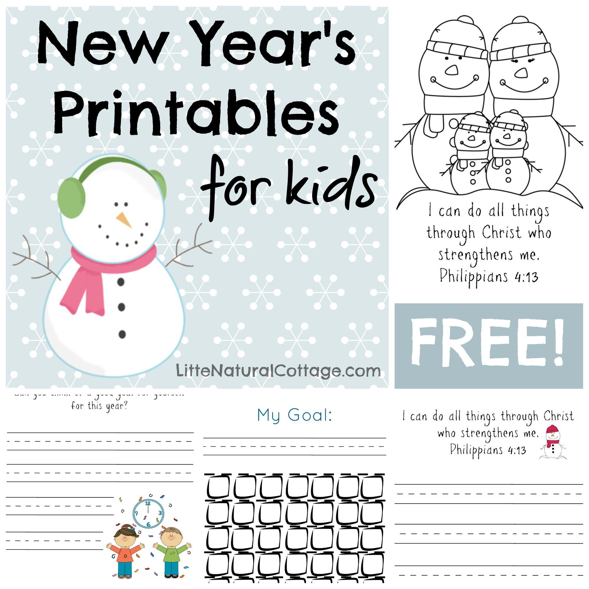 Free Printable Goal Setting For Kids
