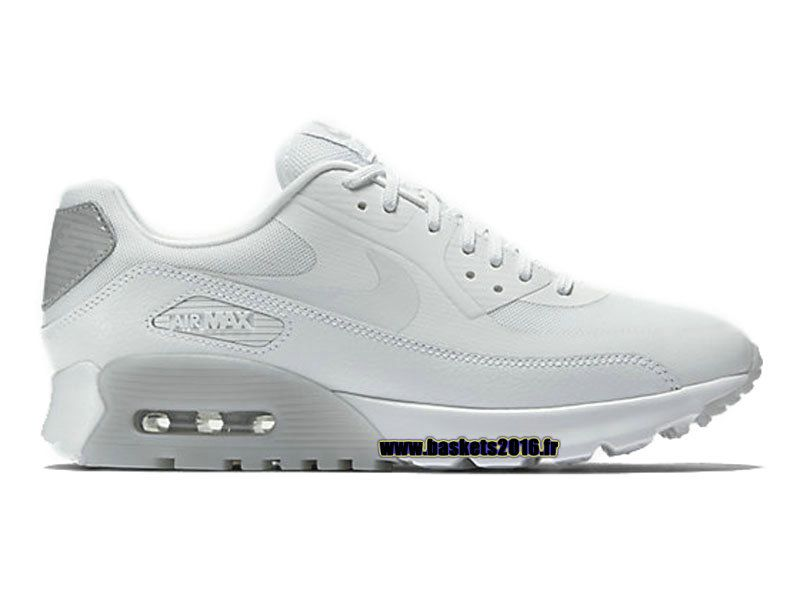 5fd7bf4955d2 Boutique Officielle Nike Air Max 90 Chaussures Ultra Essential de Basketball  Pour Femme Blanc Gris 724981-100