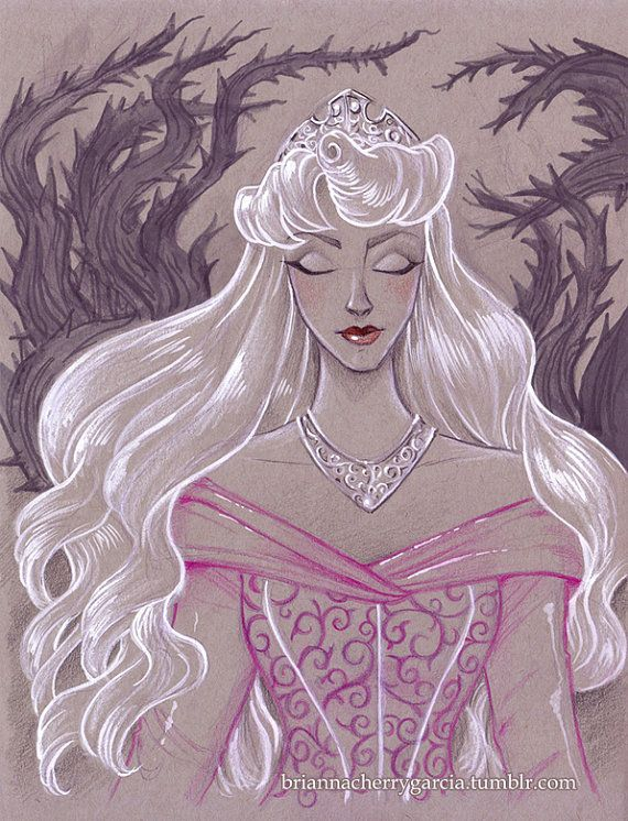 Original Art Princess Aurora by briannacherrygarcia on Etsy