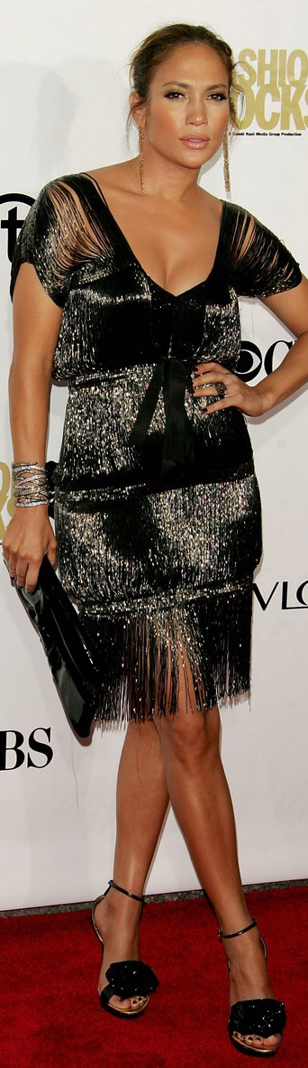 Jennifer Lopez in Roberto Cavalli dress
