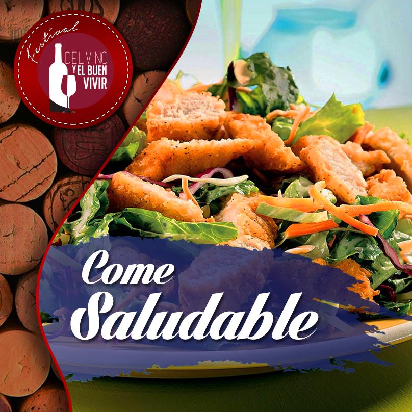 Come saludablente con estilo gourmet.                                                  Te recomendamos una esalada de pollo, queso y frutos secos.   Dale un vistazo al procedimiento: http://goo.gl/xkAlty