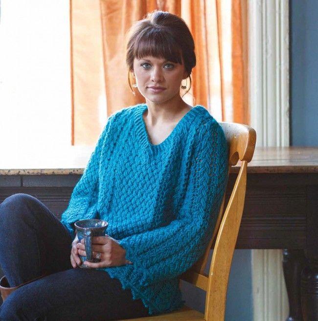 92cee1507ec592 Celtic Crochet s Kells Cabled Sweater Pattern