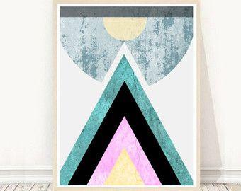Triangle   Geometric art Printable art  by AtelierMRobertson