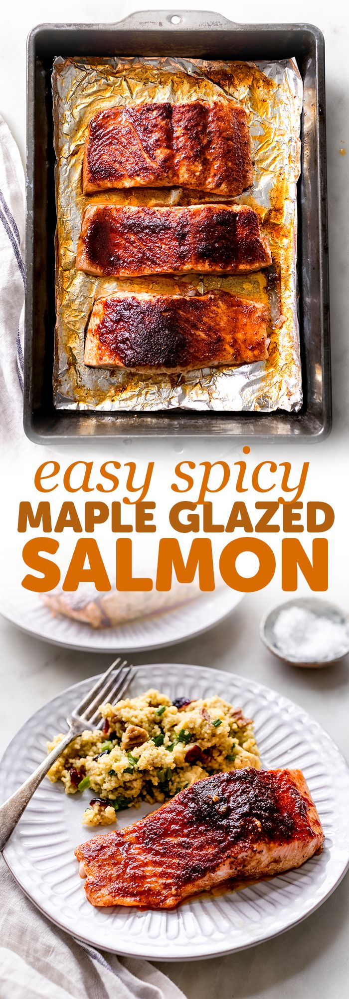 Spicy Maple Glazed Salmon Recipe - Little Spice Jar