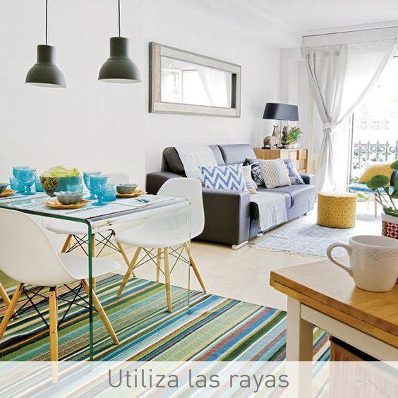 Consejos para decorar salones pequeños: 2 - Las rayas consiguen ...