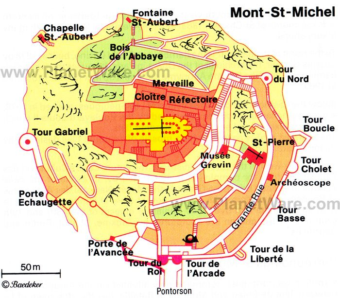 Mont St Michel Map Mont St Michel Map   Tourist Attractions | exterior//small islands