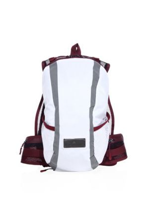 ede5f2abce1 Run Small Lightweight Backpack In White Black Prism Blue. ADIDAS BY STELLA  MCCARTNEY .  adidasbystellamccartney  bags  polyester  backpacks
