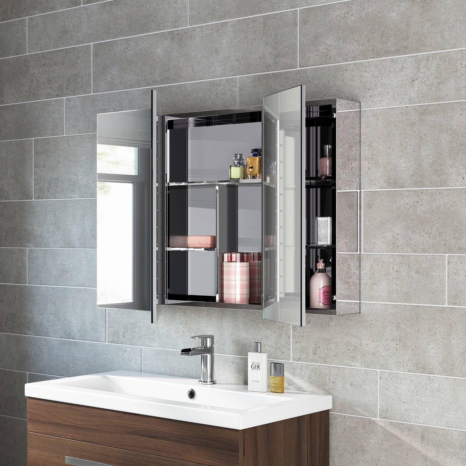 Bathroom Mirror With Storage Unique Bathroom Mirror Storage Unit Wall Mirrored Cabinet Mc111 Mirror Cabinets Bathroom Mirror Cabinet Mirror Design Wall