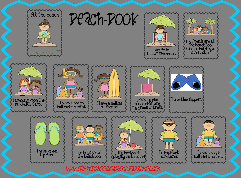 Esl Beach Theme Book Beach Themes English Language