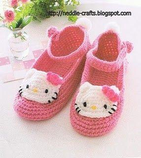 zapatito hello kitty crochet