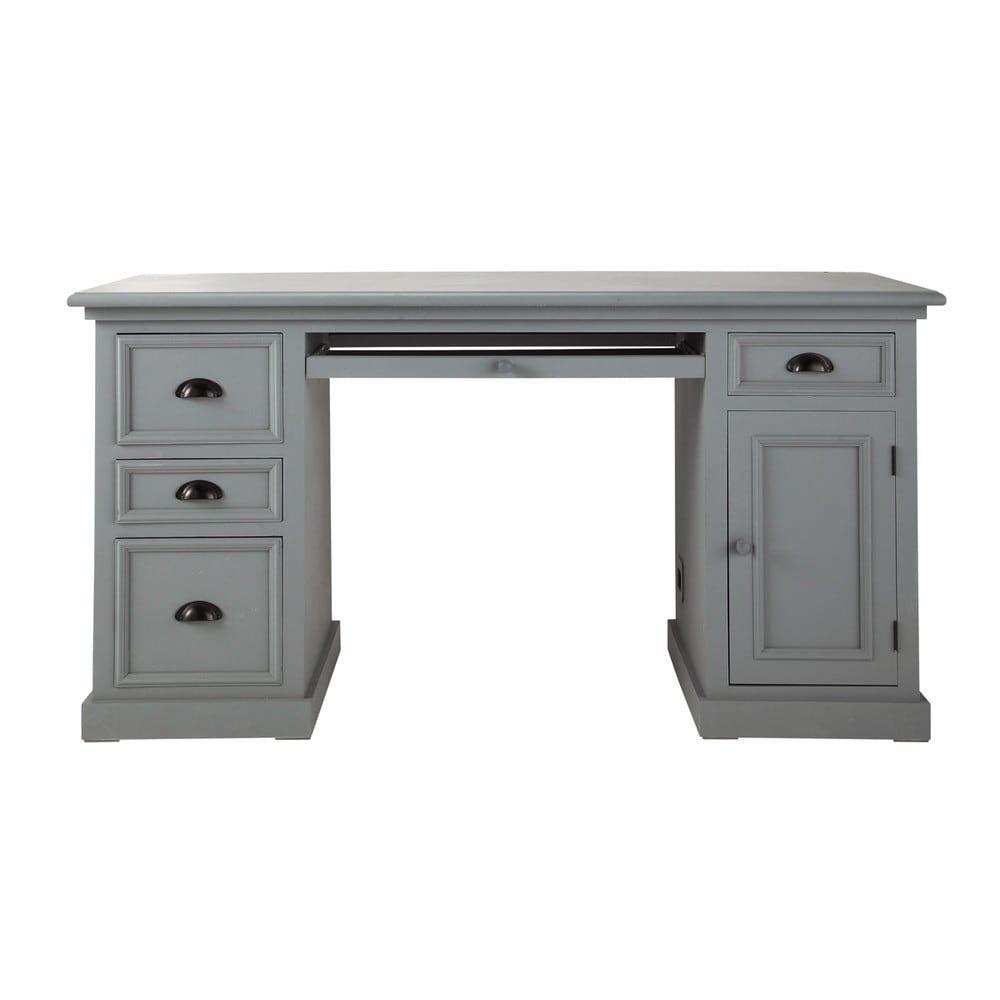 Bureau en pin gris L 150 cm | Newport, Desks and Spaces