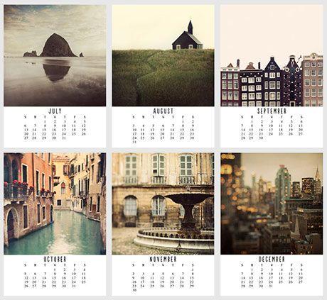 5 beautiful 2014 calendars on etsy