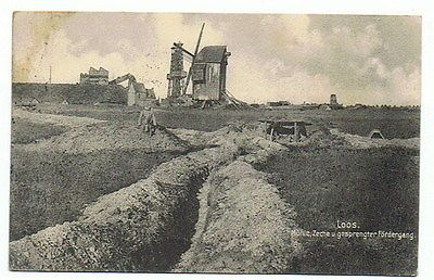 WWI, Loos, Trench near the Mill.