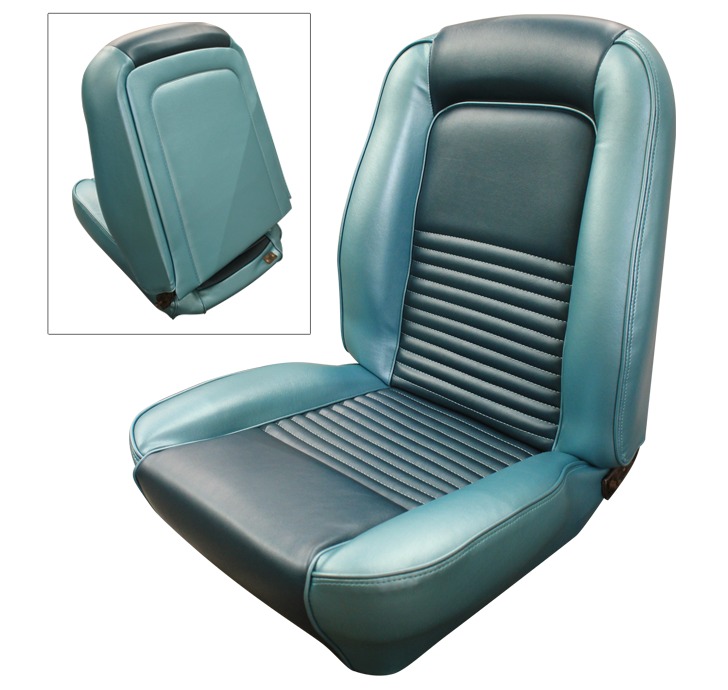 1967 Mustang Standard Touring Front Bucket Seats 1967 Mustang