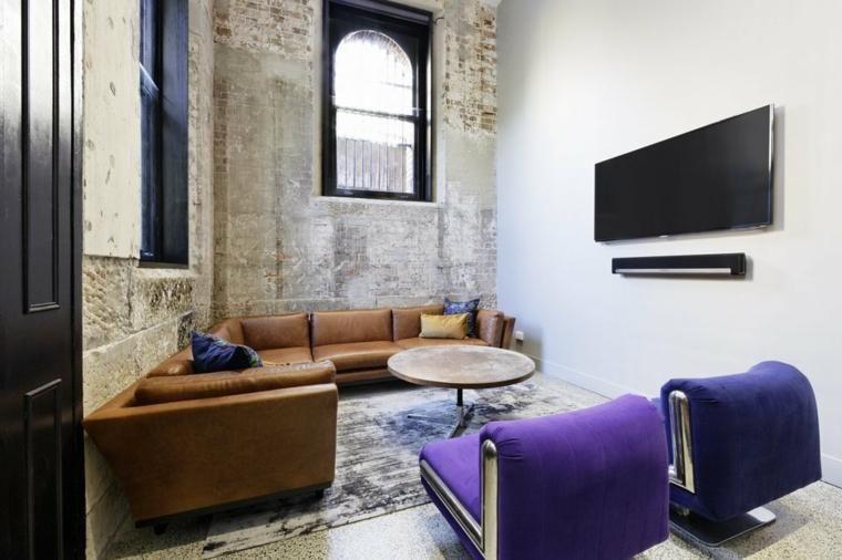 Interior Design Haus 2018 Grunge-Stil für die Inneneinrichtung - industrial chic wohnzimmer