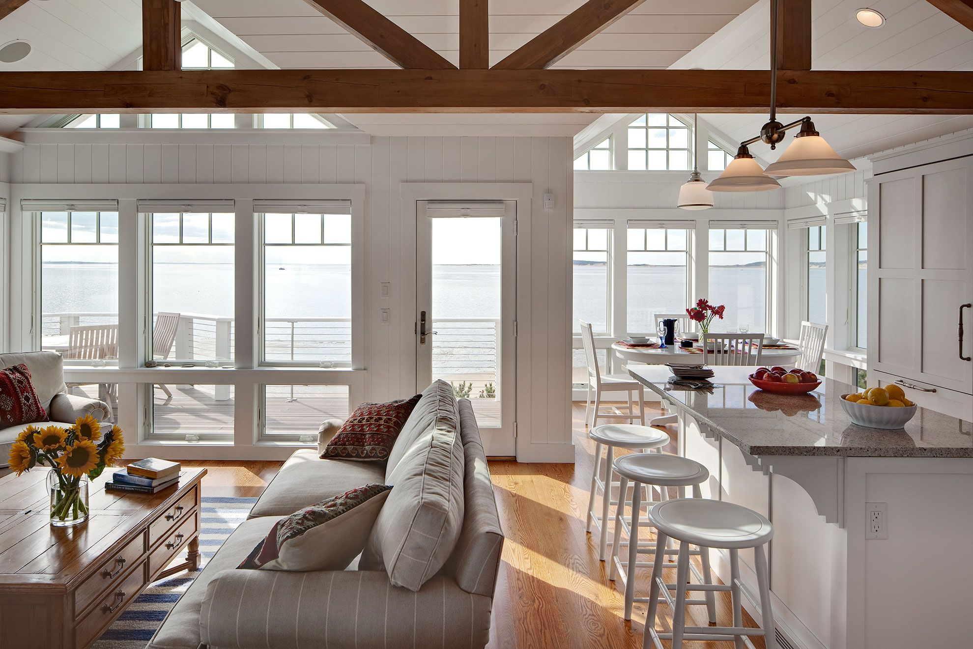 Beachside Home Cape Cod Trusses, open floor plan This ...