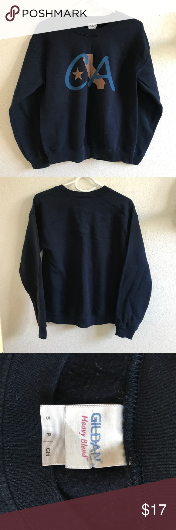 CA CREW NECK SWEATER In good condition // Gildan Sweaters Crew & Scoop Necks