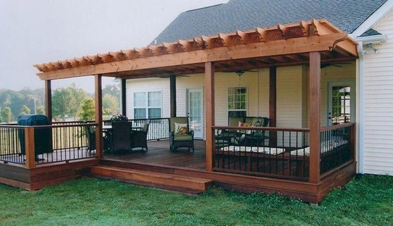 Simple Porch Design Ideas Read Full Article Patio Deck Designs Deck With Pergola Backyard Patio Designs