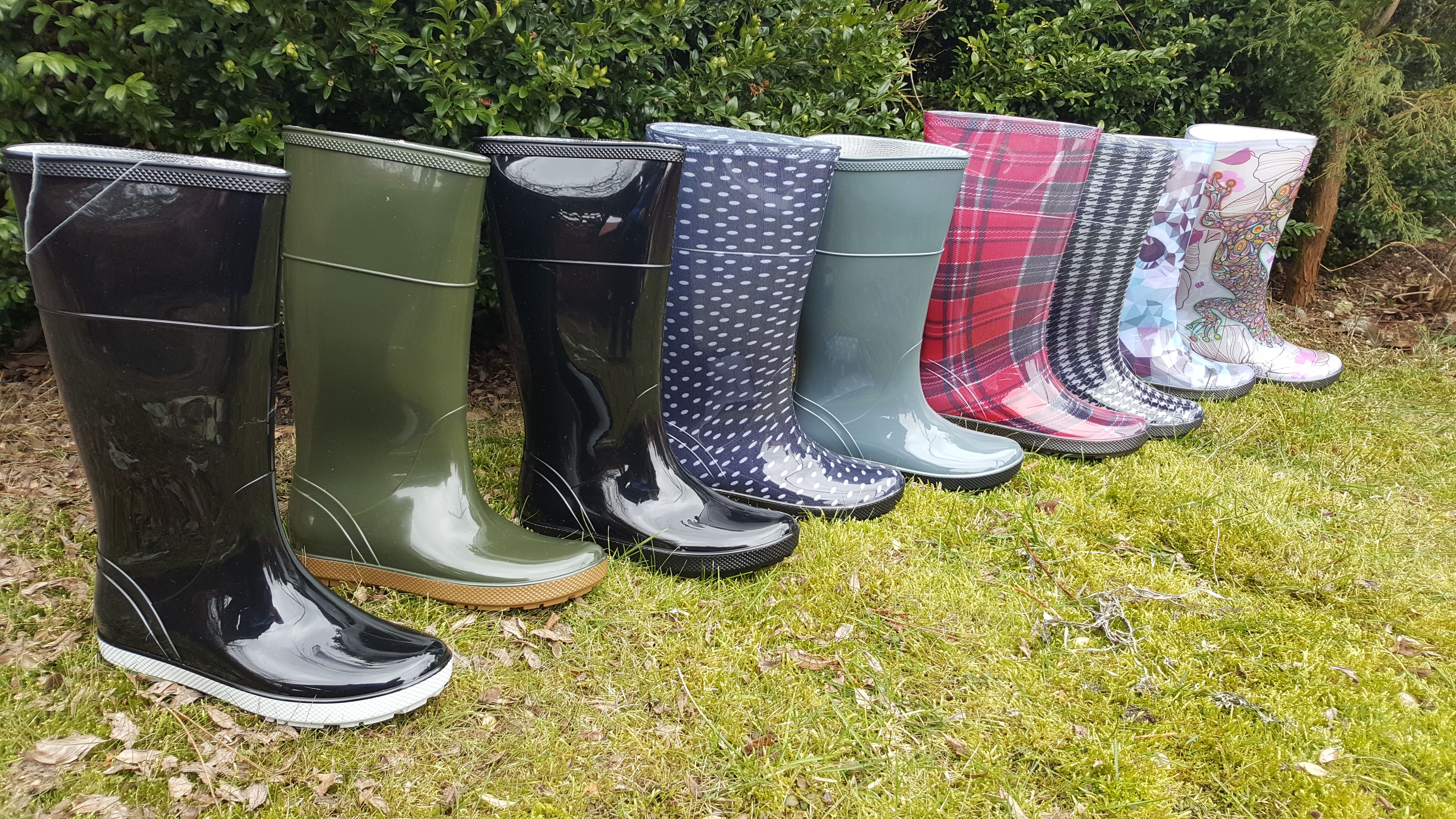 Women S Stylish Colorful Wellies Wellies Rubber Rain Boots Hunter Boots