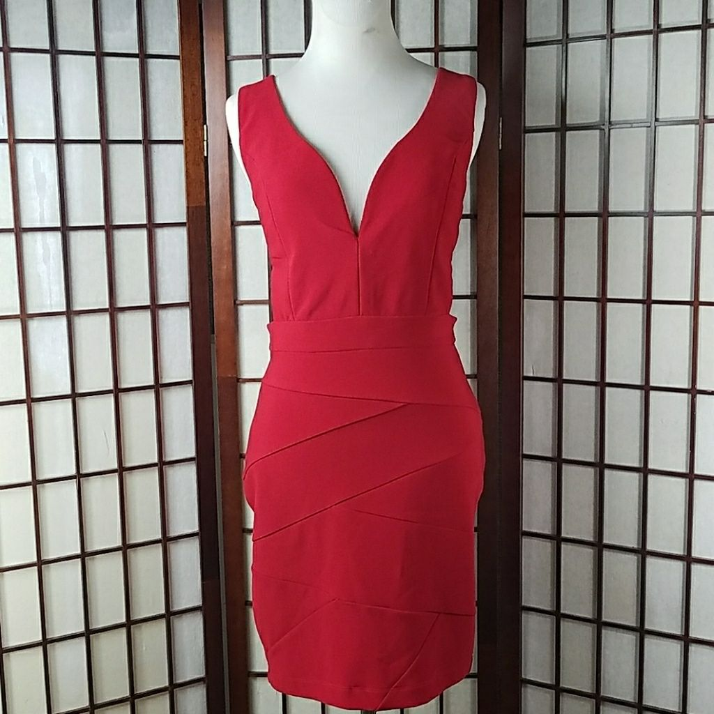 Sexy red emerald sundae bodycon dress products