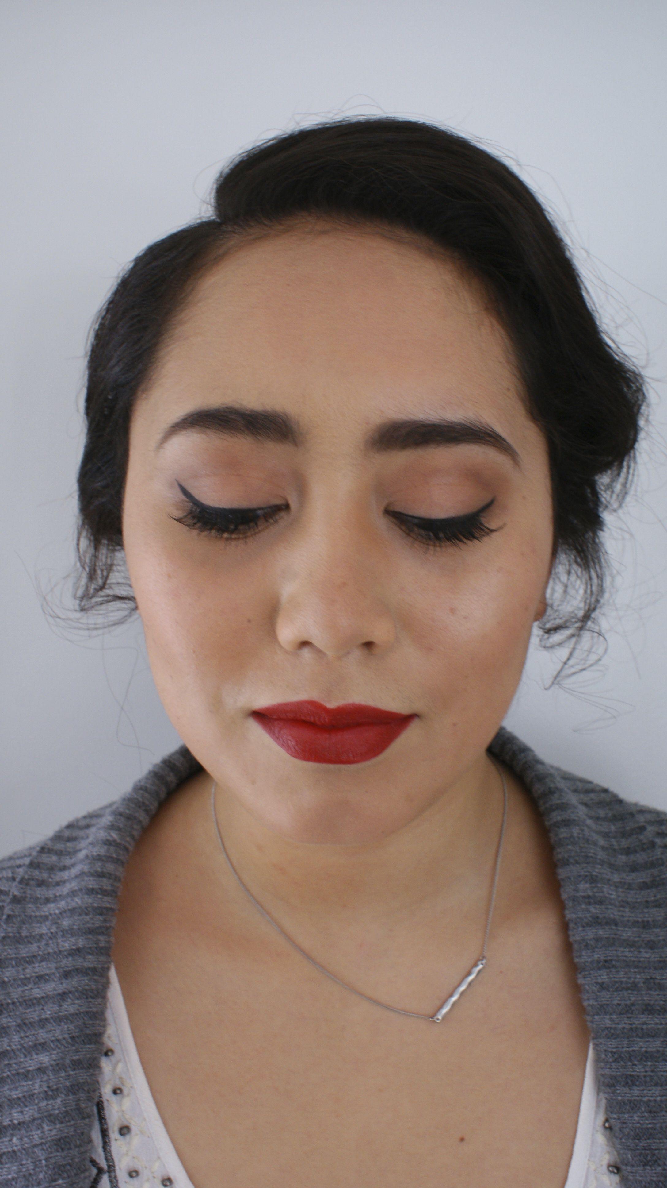 Bold red lip glamorous makeup Lipstick chilli by MAC
